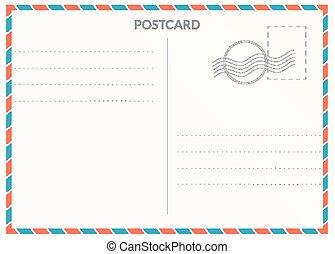 郵政, 卡片, 空白