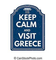 郵票, 希臘, 訪問, 平靜, 保持