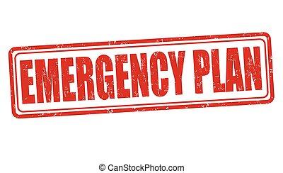 郵票, 簽署, 或者, 緊急事件, 計劃