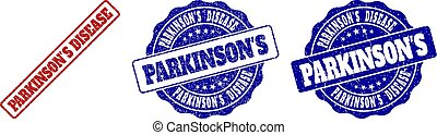 郵票, grunge, 疾病, parkinson's, 密封