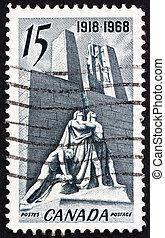 郵送料, カナダ, 記念, 1968, カナダ, 切手, フランス, vimy