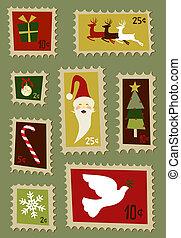 郵送料, クリスマス, セット, スタンプ