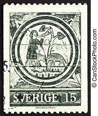 郵送料, 世紀, 切手, 息子, 1971, 第13, スウェーデン, 放とう息子