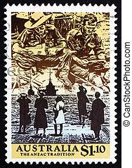 郵送料, 1990, オーストラリア, 切手, 現場, wwii