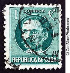 郵送料, jose, キューバ, 切手, marti, 革命家, 1917
