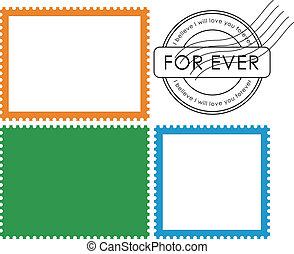 郵送料, stamp-vector, ブランク