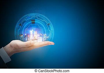 都会化, コミュニケーション, 未来, 技術