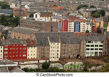 都市の景観, エジンバラ, 上に, スコットランド