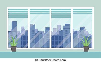 都市の景観, オフィス, 部屋