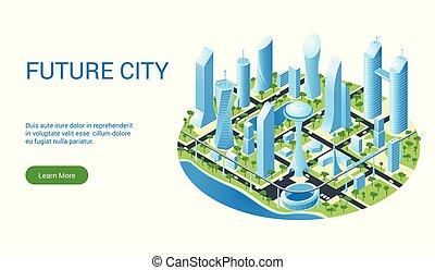 都市の景観, テンプレート, 未来派