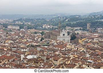 都市の景観, バシリカ, フィレンツェ, 交差点, 神聖