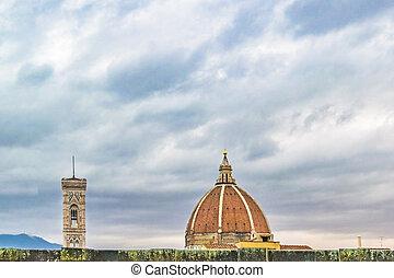 都市の景観, フィレンツェ, 航空写真