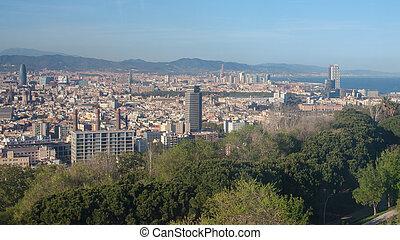都市の景観, 台紙。, バルセロナ, 光景