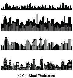 都市の景観, 建物, 超高層ビル