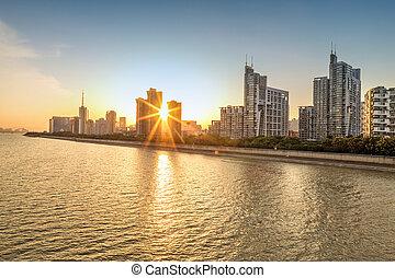 都市の景観, 日没