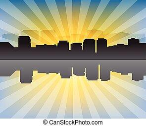 都市の景観, 現代, 日没