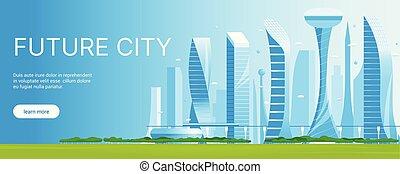 都市の景観, 現代, 01, 未来派