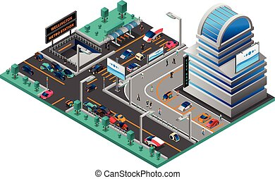 都市の景観, 等大, 構成, 未来派