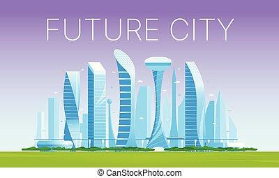 都市の景観, 02, 現代, 未来派