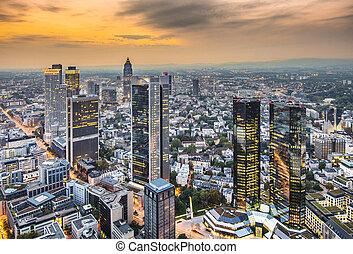 都市の景観, frankfurt, ドイツ