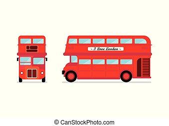 都市バス, ロンドン, 前部, サイド光景