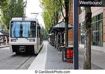 都市バス, 到着