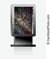都市ライト, 広告板, ∥で∥, 爆発, fireworks.