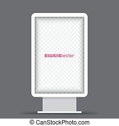 都市ライト, 広告板, 白