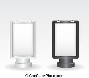 都市ライト, 広告板, 黒, 銀