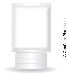 都市ライト, 白, 広告板