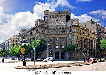 都市眺め, の, バルセロナ, spain.