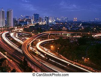都市風景, 傍晚