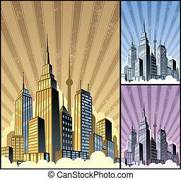 都市風景, 垂直