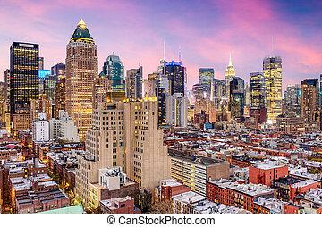 都市風景, 新, 城市, 約克, midtown