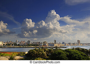都市風景, el, 哈瓦那, 要塞, morro