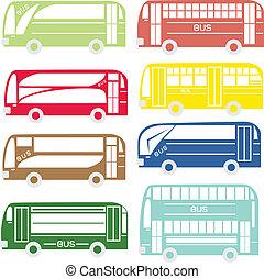 都市, そして, 観光客, バス
