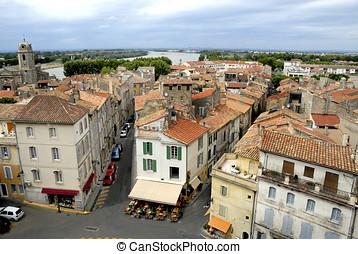 都市, の, arles, 中に, フランス