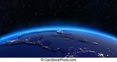 都市, アメリカ, 中央である, ライト, 地図