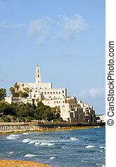 都市, イスラエル, ピーター, 古い, jaffa, st. 。, 地中海, aviv, 歴史的, 海, 教会, ∥電話番号∥