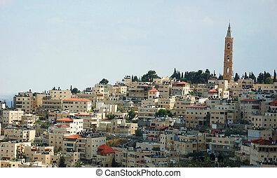 都市, イスラエル, 神聖, エルサレム, 光景