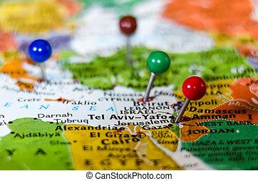 都市, イスラエル, ∥電話番号∥, ピン, 地図, othe, aviv-yafo