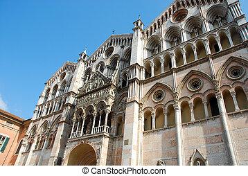 都市, -, イタリア, ferrara, 大聖堂