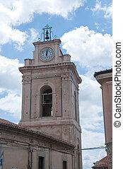 都市, イタリア, nicotera, 教会, カラブリア, タワー