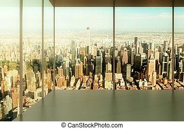 都市, オフィスを空にしなさい, 光景