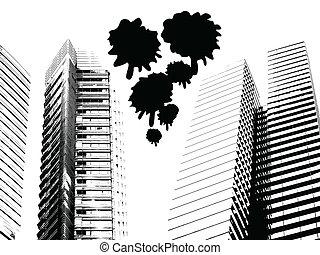都市, グランジ, 超高層ビル