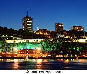 都市, ケベック, 夜