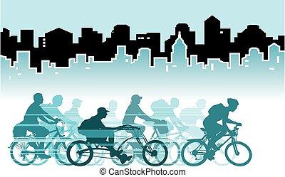 都市, サイクリング