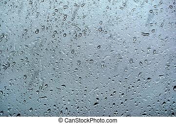 都市, シルエット, 神秘主義者, 雨, 窓, 低下