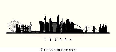 都市 スカイライン, ロンドン, 横, banner.