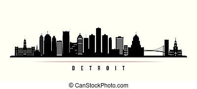都市 スカイライン, 横, デトロイト, banner.